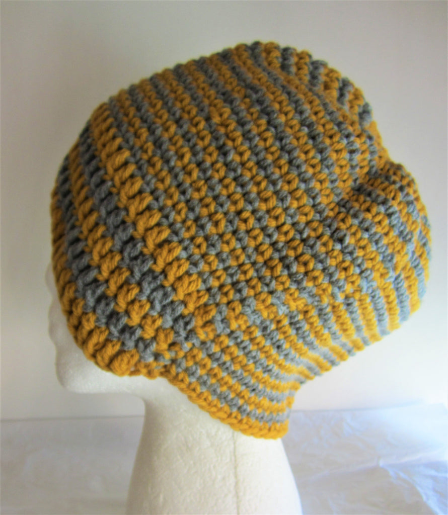 Chantelle - Yellow/Grey Crochet Hat Free Shipping