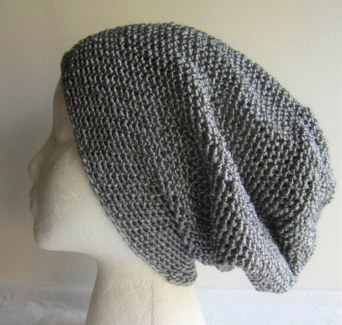 Ayana - Metallic Crochet Hat Beanie Grey/Gray/Silver Free Shipping