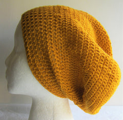 Crown - Crocheted Yellow Beanie Hat