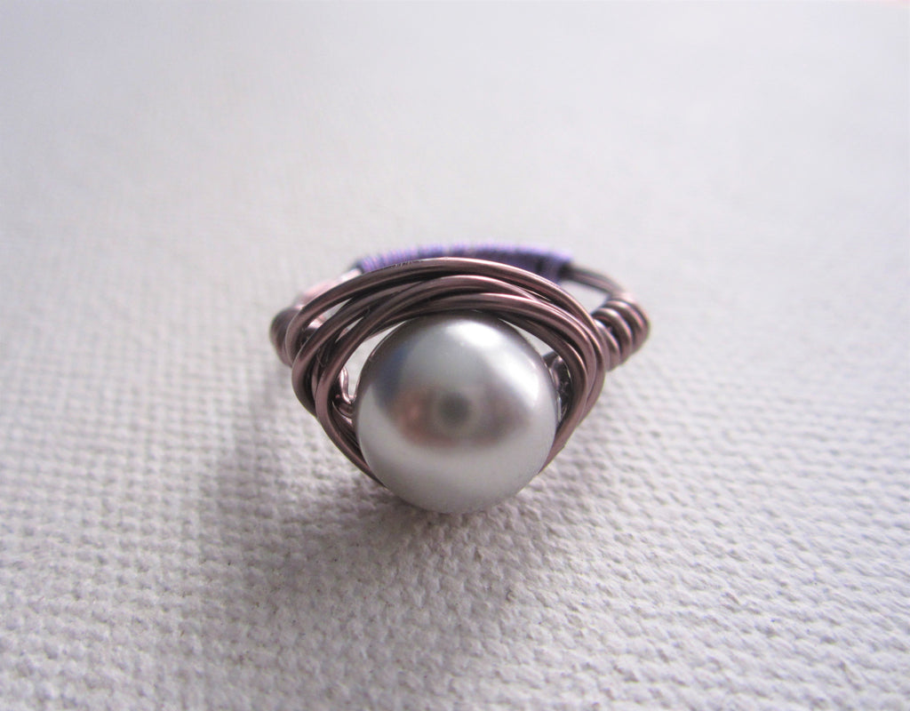 Kali - Faux Pearl Ring Free Shipping