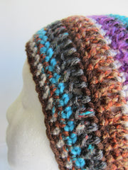 Jen - Striped Multi-Color Beanie Hat Free Shipping