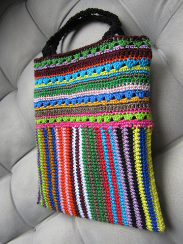 Keisha - Multi-Color Crochet Handbag Purse Free Shipping