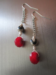 Kennedy - Agate/Glass Earrings Free Shipping