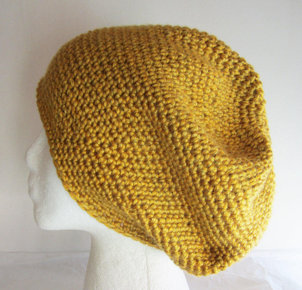 Magic - Yellow/Gold Crocheted Beanie/Hat Free Shipping