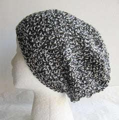 Marble - Black/Grey Mix Crochet Hat Free Shipping