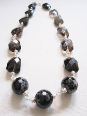 Mell - Agate/Smoky Quartz Necklace Free Shipping