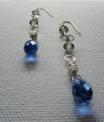 Nora - Faceted Glass Earrings Free Shipping