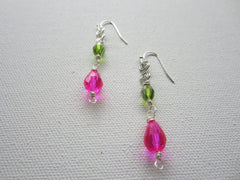 Precious - Faceted Glass Earrings Free Shipping