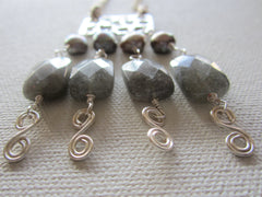 Rachelle - Freshwater Pearl/Labradorite Necklace Free Shipping