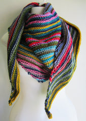 Rainbow - Multi-Color Knitted Triangular Scarf Free Shipping