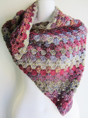 Salon - Multi-Color Crochet Triangular Scarf Free Shipping