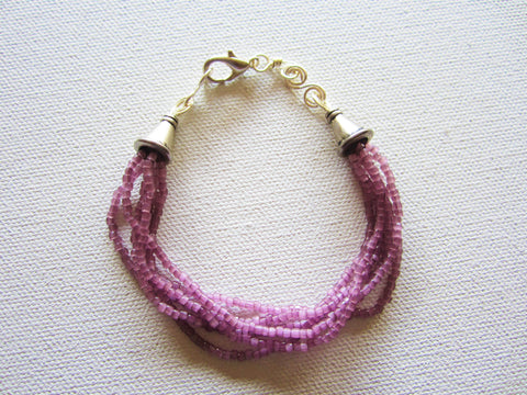 Sasha - Purple Bead Bracelet Free Shipping