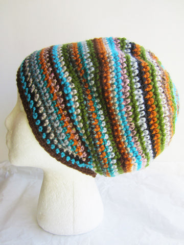 Spices - Striped Multi-Color Beanie Hat Free Shipping