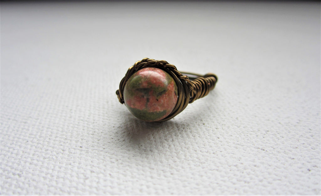 Una - Unakite Ring Free Shipping