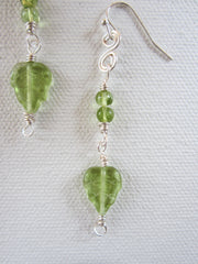 Vivian - Peridot/Glass Earrings Free Shipping