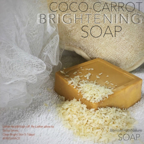 SKIN LIGHTENING COCO CARROT SOAP - Borrow from Nature