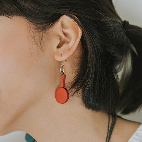 Mia Series 3 Earrings / Orange