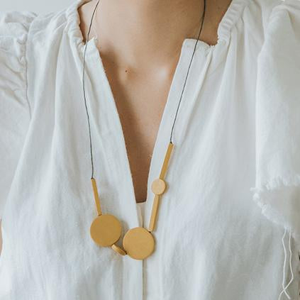 Mia Series 3 Necklace / Mustard