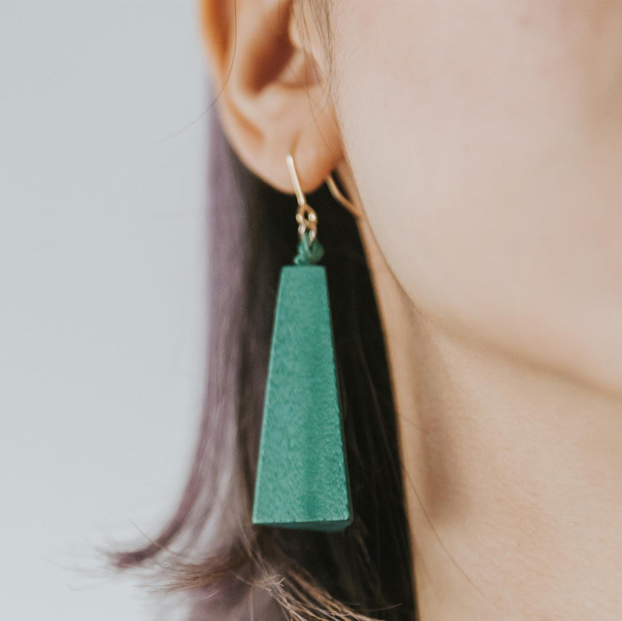 Quadrangle Q1 Earrings / Forest