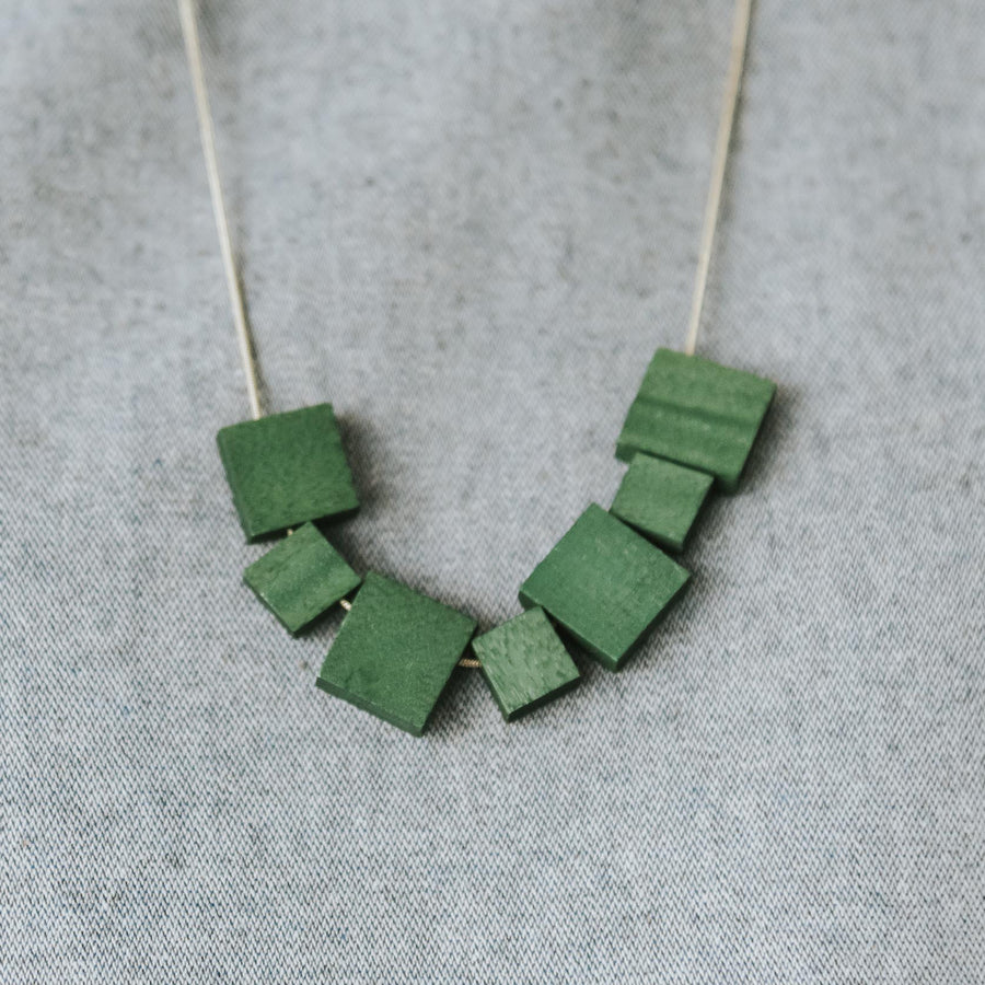 Mia Series 2 Square 2 Earrings / Forest