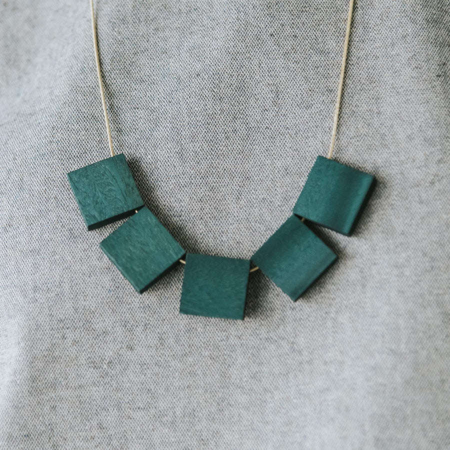 Mia Series 2 Square 1 Chain Necklace / Teal