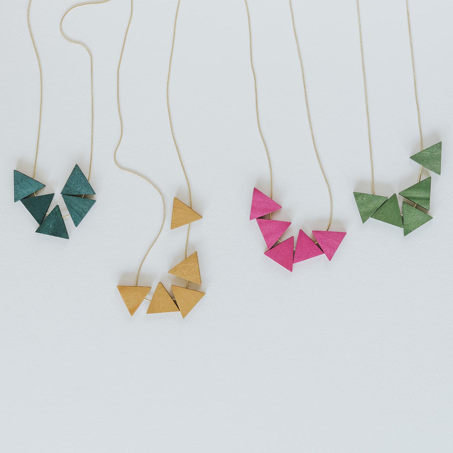 Mia Series 2 Triangle Earrings / Magenta
