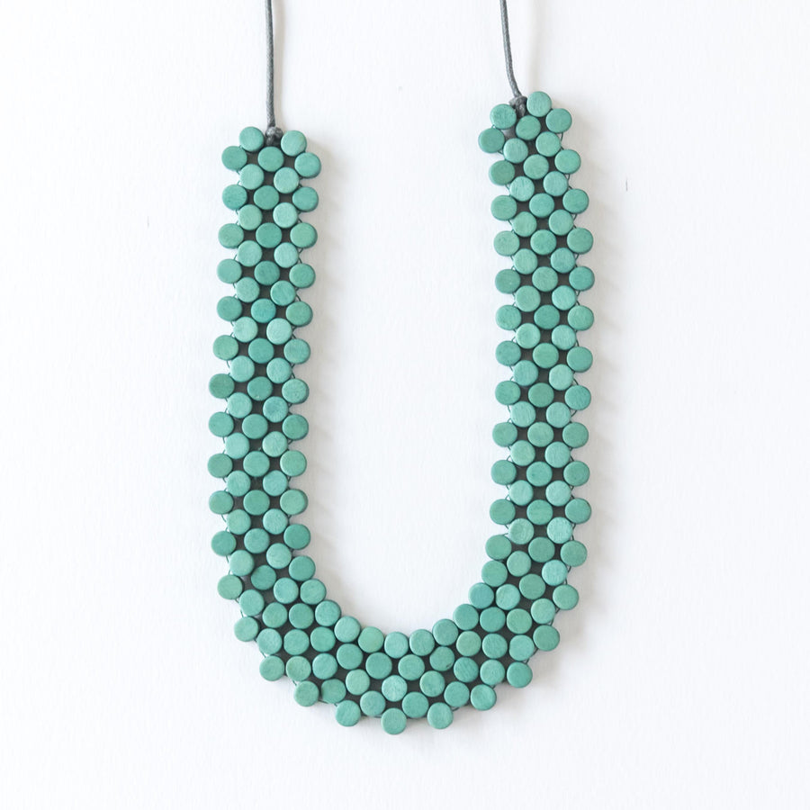 Dot Adjustable Necklace / Turquoise