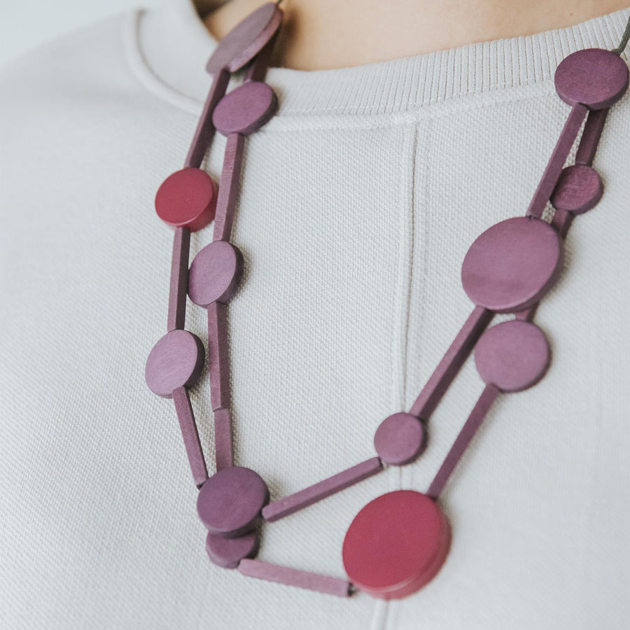 Circus II Adjustable Necklace / Purple