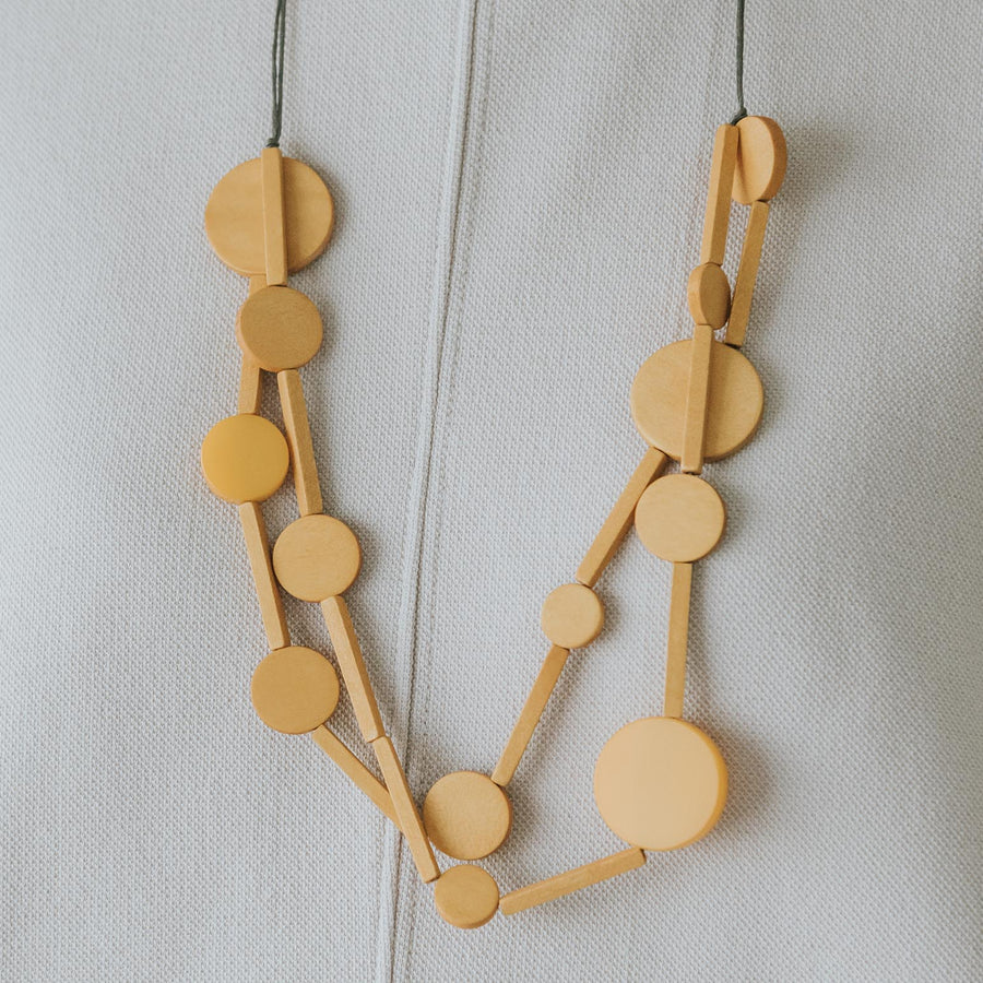 Circus II Adjustable Necklace / Mustard