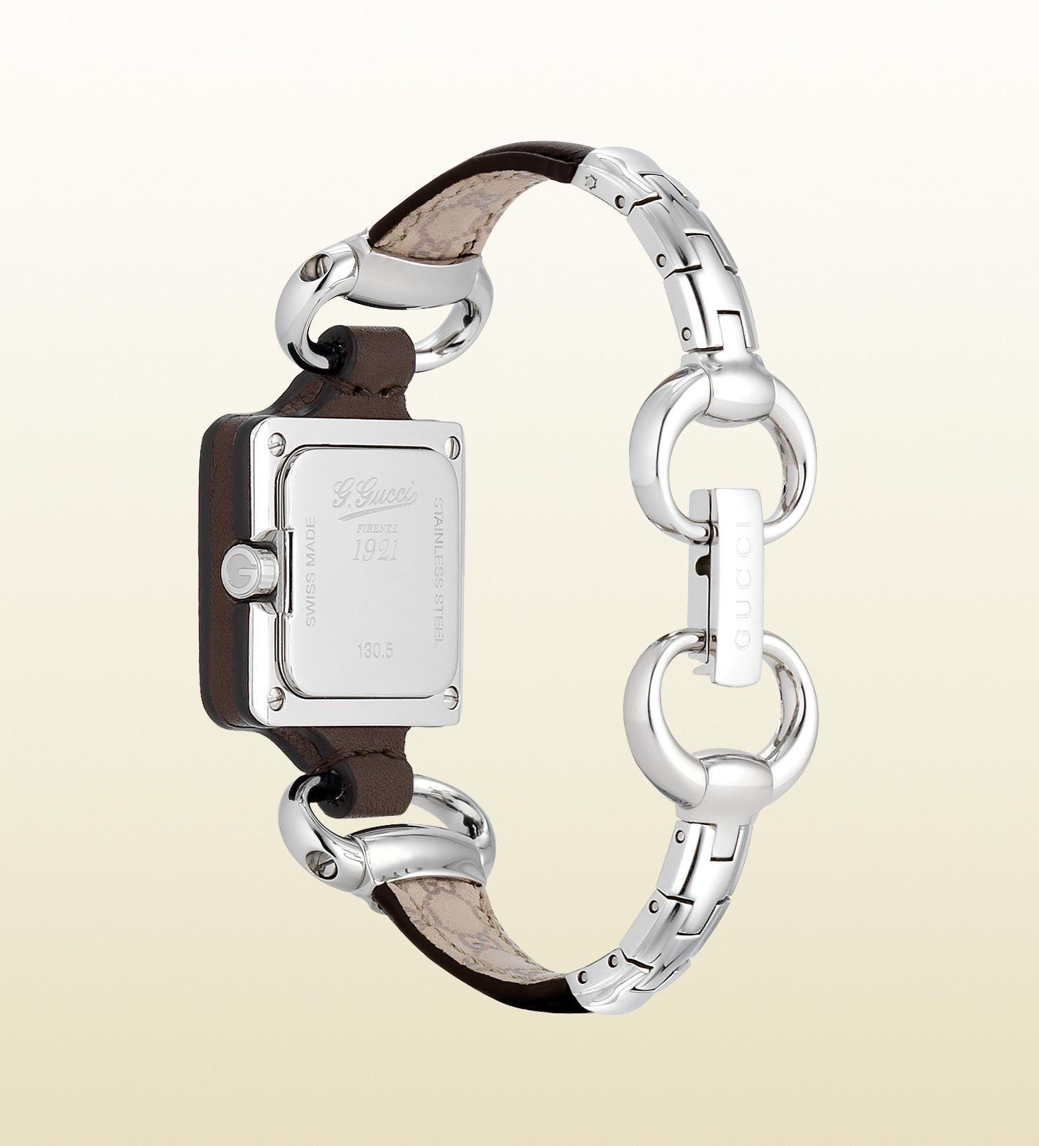 b19ac276da2 ... Gucci 1921 Special Edition Stainless Steel and Leather YA130403 (25mm)