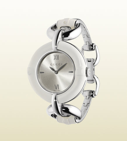 52ad128e50a Gucci Bamboo Stainless Steel YA132406 (35mm)