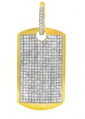 10k Yellow Gold Pendant Dog Tag
