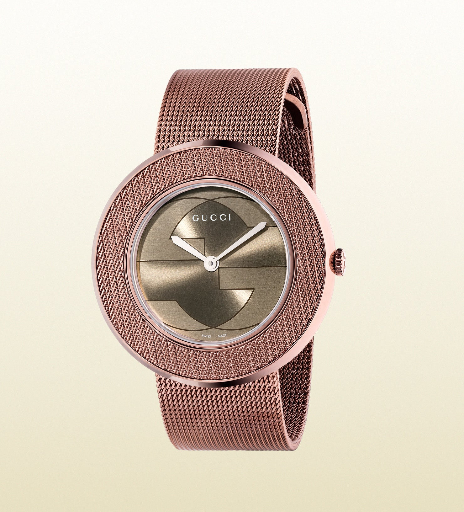 19343468713 Gucci U-Play Medium PVD and Mesh YA129445 (35mm) – Market Street Gold