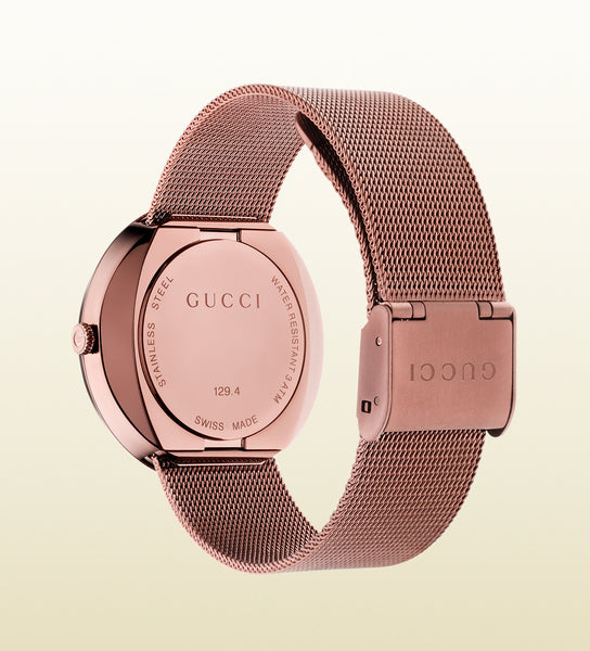 Gucci U-Play Medium PVD and Mesh YA129445 (35mm)