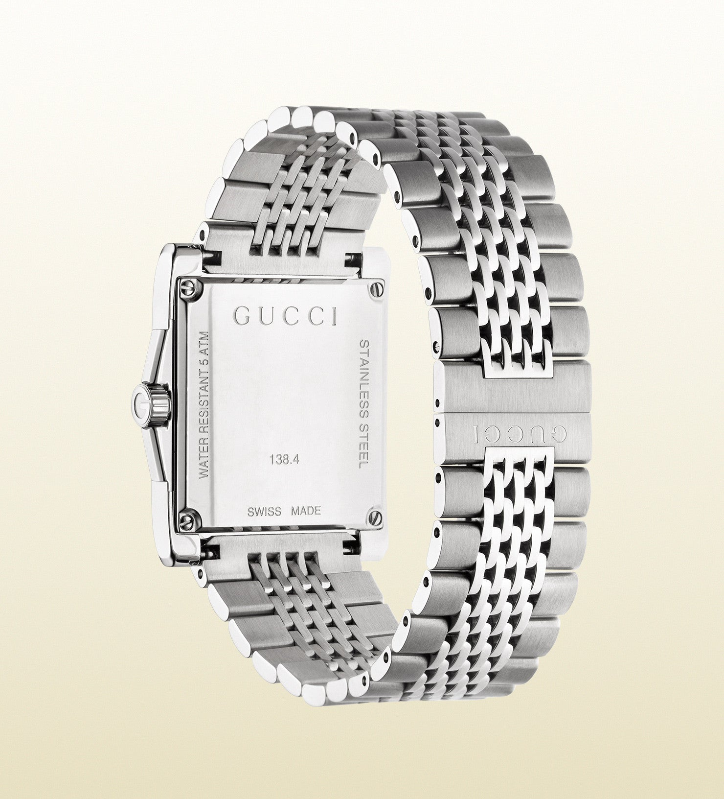 69936c96882 ... Gucci G-Timeless Medium Stainless Steel Rectangle YA138402 (32mm) ...