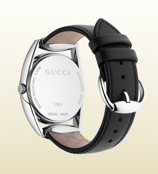 Gucci Horsebit Dark Leather Small YA139401 (34mm)