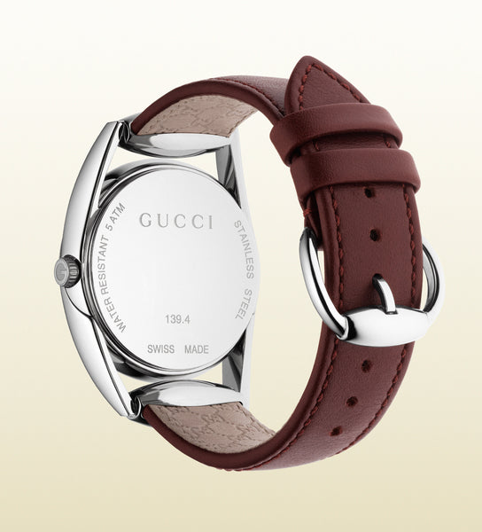 Gucci Horsebit Dark Leather Small YA139402 (34mm)