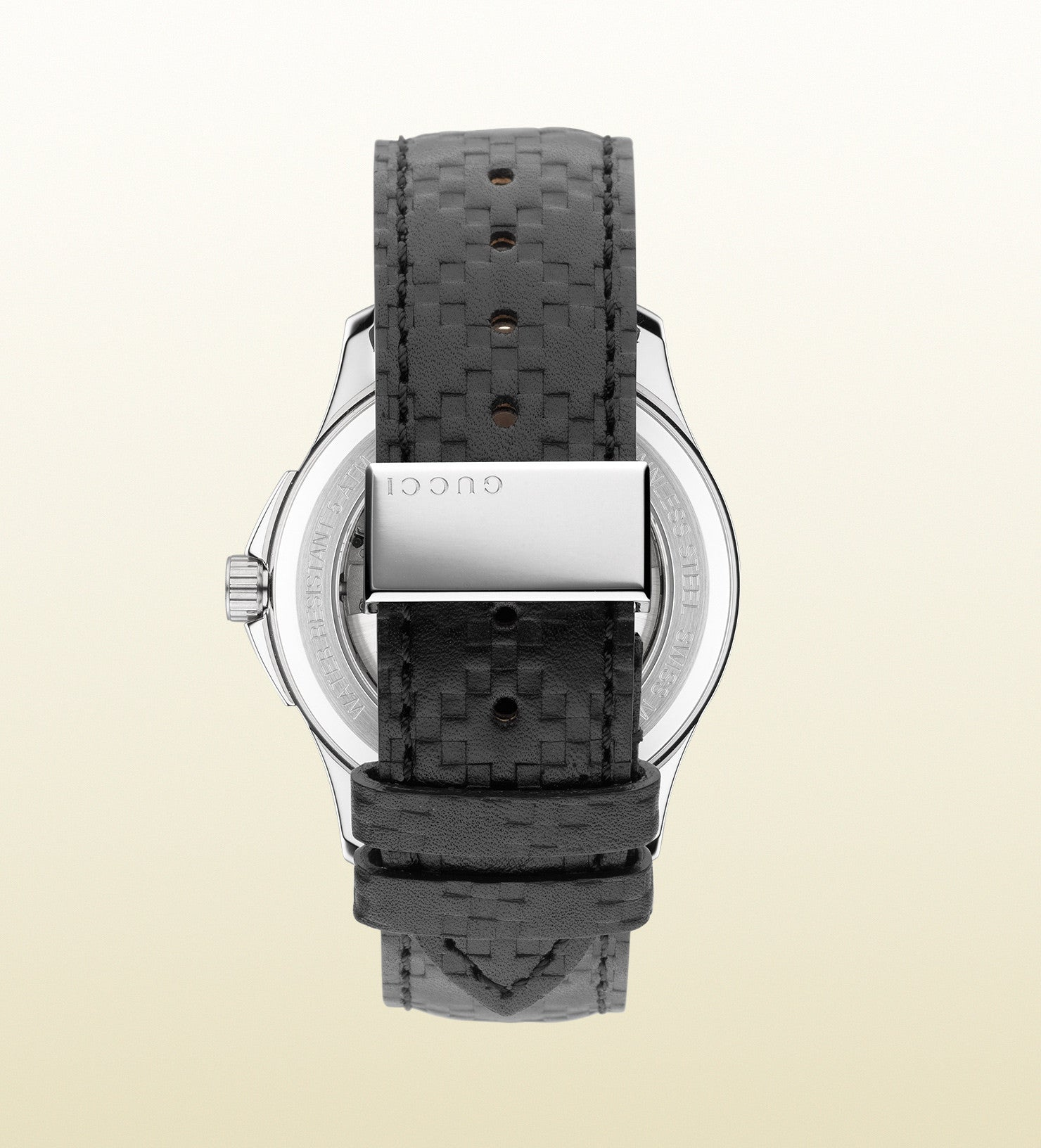 004e915b012 Gucci G-Timeless Medium Stainless Steel and Leather YA126430 (38mm) – Market  Street Gold