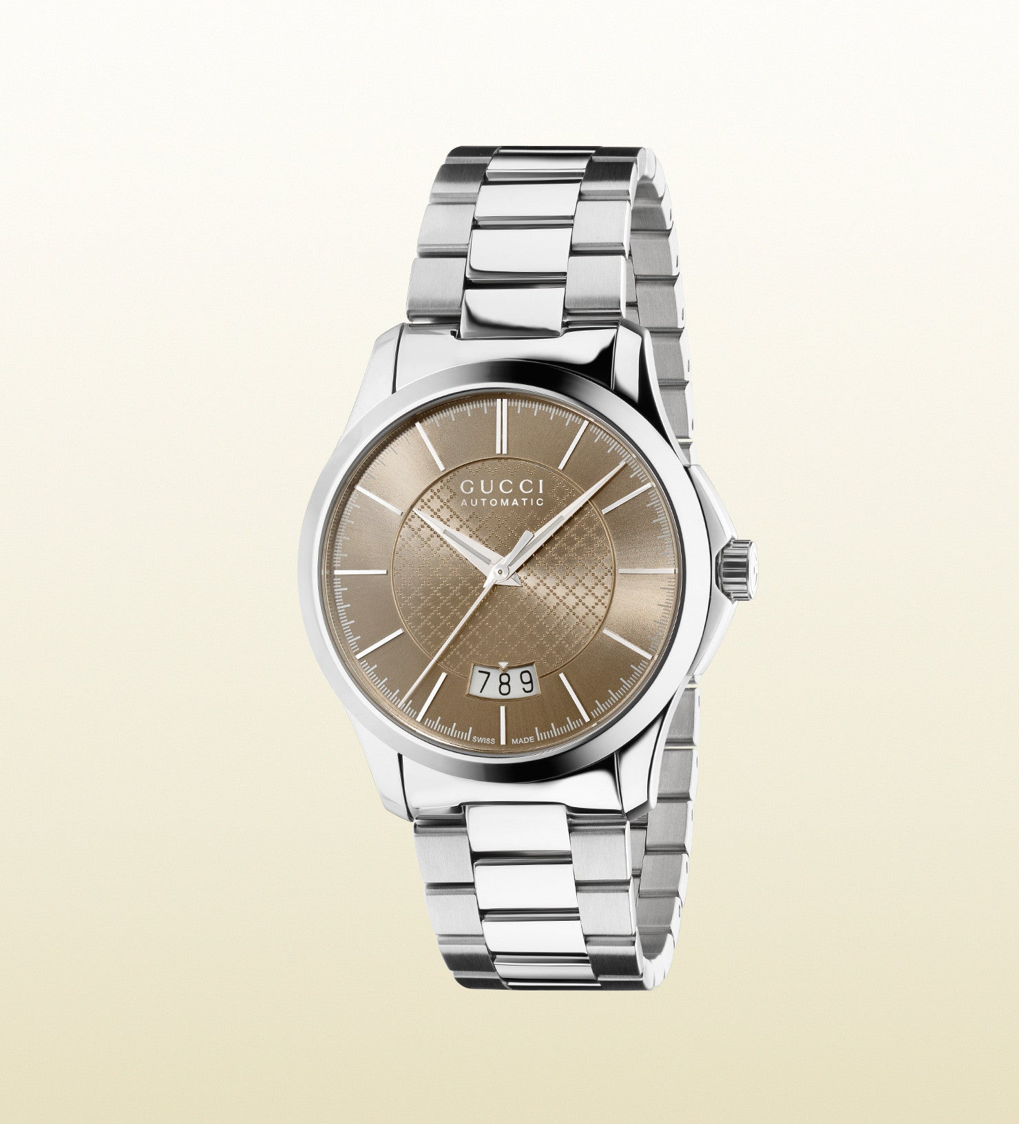 f49a0d97095 Gucci G-Timeless Medium Slim Stainless Steel YA126431 (38mm ...