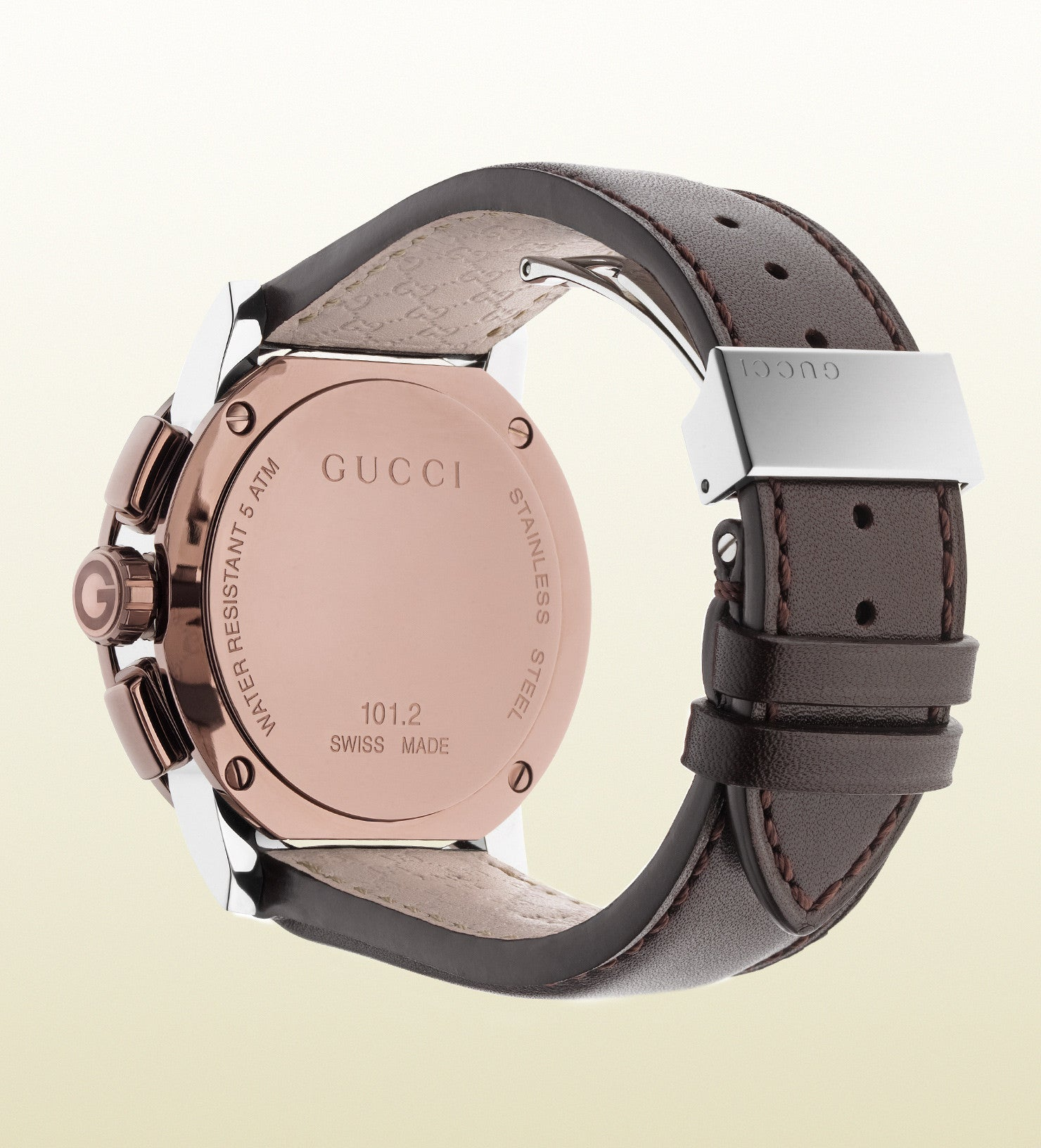 Gucci G-Chrono Extra Large Stainless Steel and PVD YA101202 (44mm ...