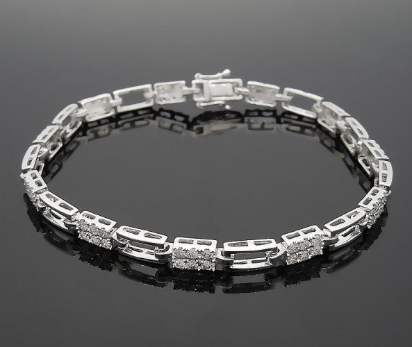14k White Gold 2ct Diamond Bracelet