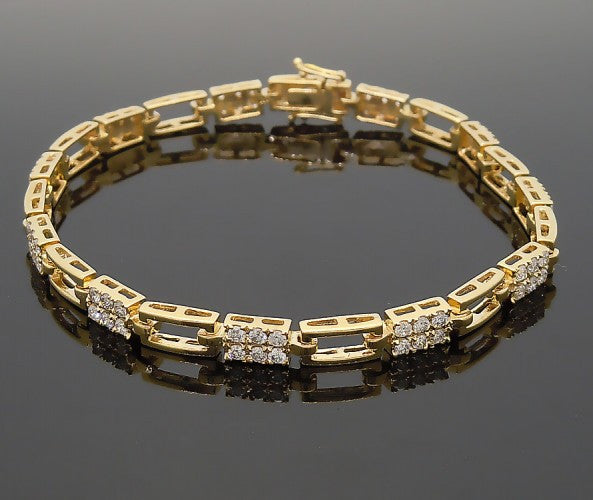 14k Yellow Gold 2ct Diamond Bracelet