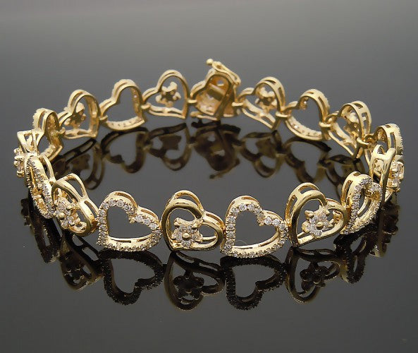 14k Yellow Gold 3ct Diamond Bracelet
