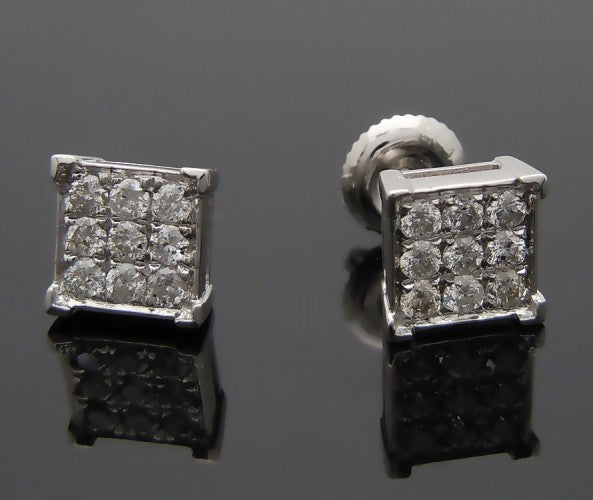 14k White Gold .5ct Diamond Earrings