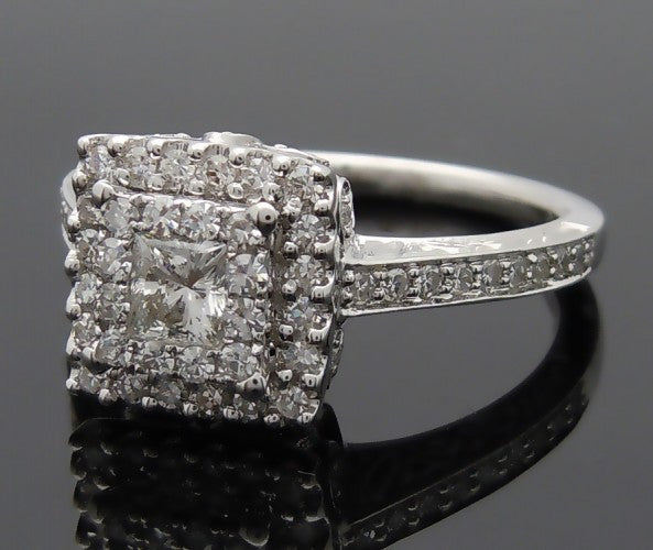 18k White Gold 1ct Diamond Engagement Ring