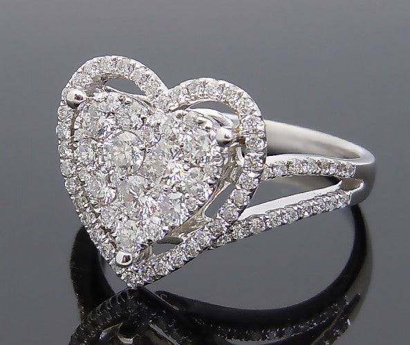 18k White Gold 1ct Diamond Ring