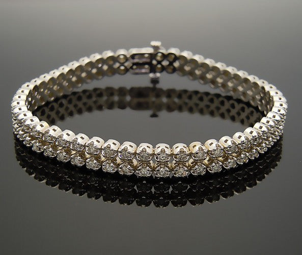 14k White Gold 4ct Diamond Bracelet