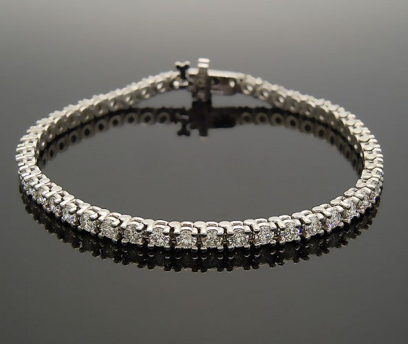 14k White Gold 5ct Diamond Bracelet