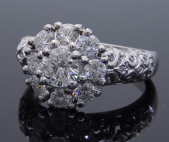 14k White Gold 1ct Diamond Engagement Ring
