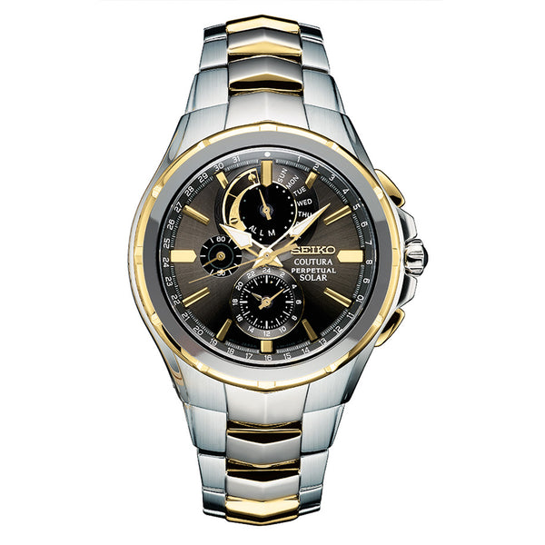 Seiko Solar Coutura Chronograph Stainless Steel Watch SSC376